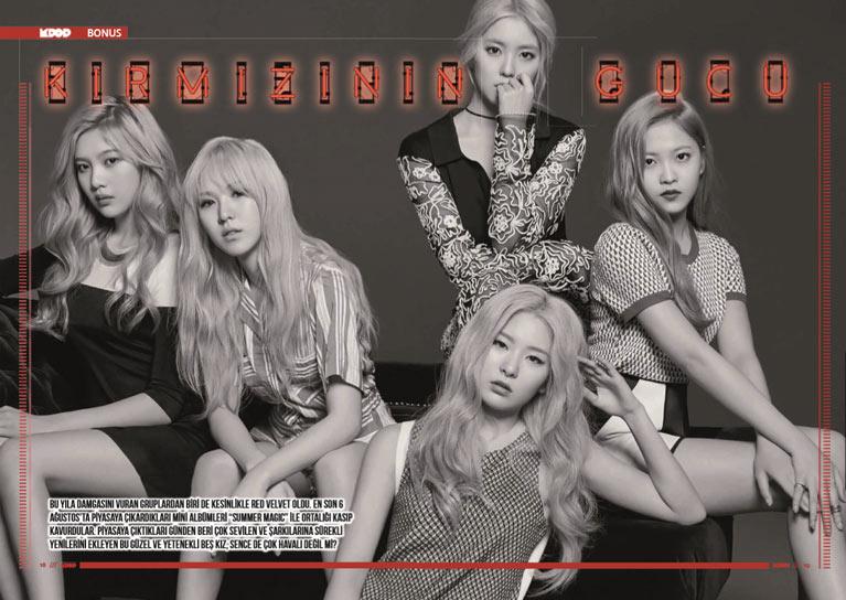 K-Pop & Drama Dergisi'nin Beşinci sayısı -Kırmızının gücü: Red Velvet kız grubu