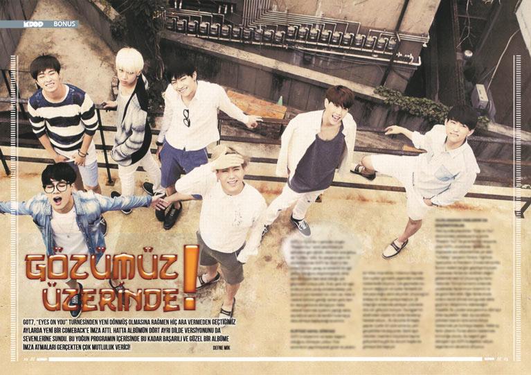 K-Pop & Drama Dergisi Beşinci sayı - Gözümüz üzerinde: GOT7 grubu