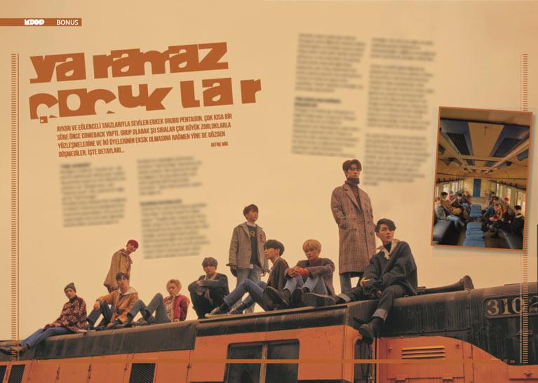 K-Pop & Drama Dergisi'nin 5. sayısı - PENTAGON hakkında bilinmesi gerekenler
