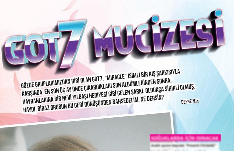 K-Pop & Drama Dergisi'nin 6. sayısı GOT7 içeriği