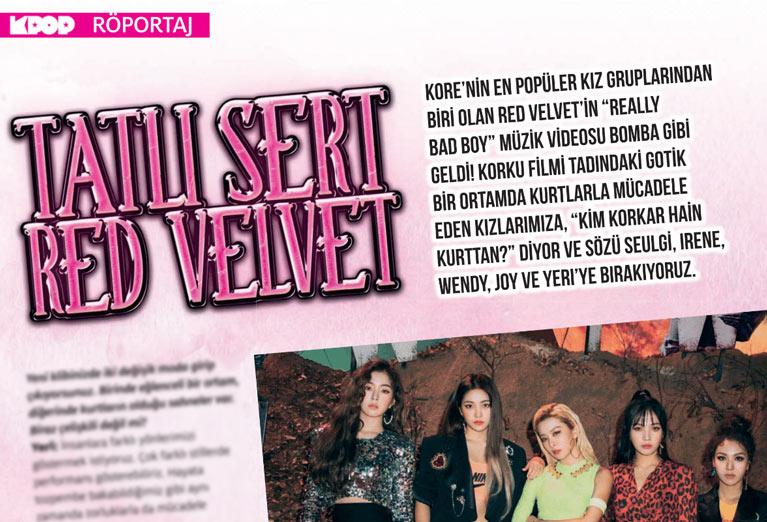 K-Pop & Drama Dergisi'nin 6. sayısında yer alan Red Velvet röportajı