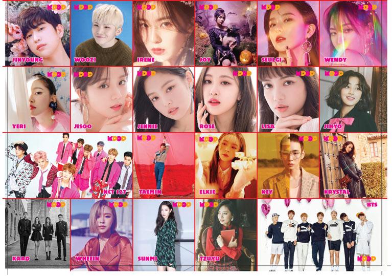 K-Pop & Drama Dergisi'nin altıncı sayısında yer alan stickerlar