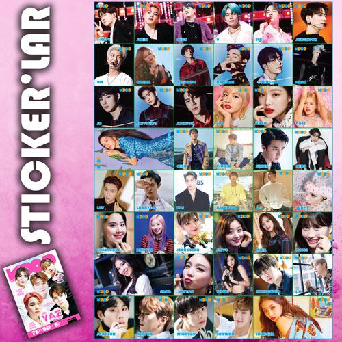 K-Pop Dergi Yaz Özel çıkartmaları