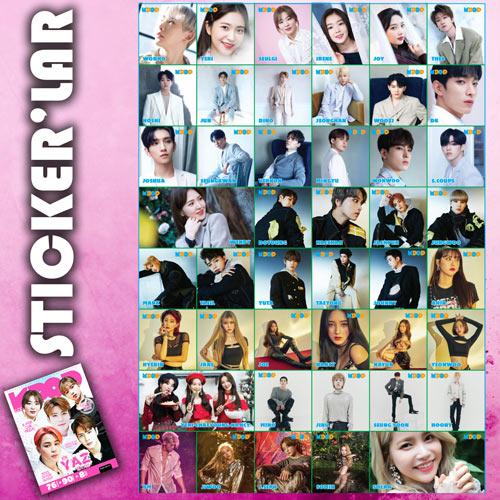 K-Pop Dergi Yaz Özel stickerları