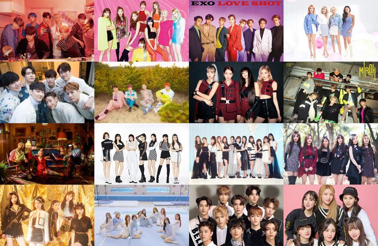 2019 yılında kpop gruplarının popülerlik listesi