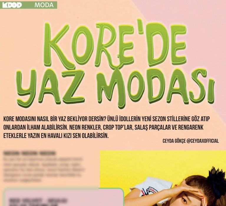 K-Pop Dergi Yaz Özel moda konusu tanıtımı