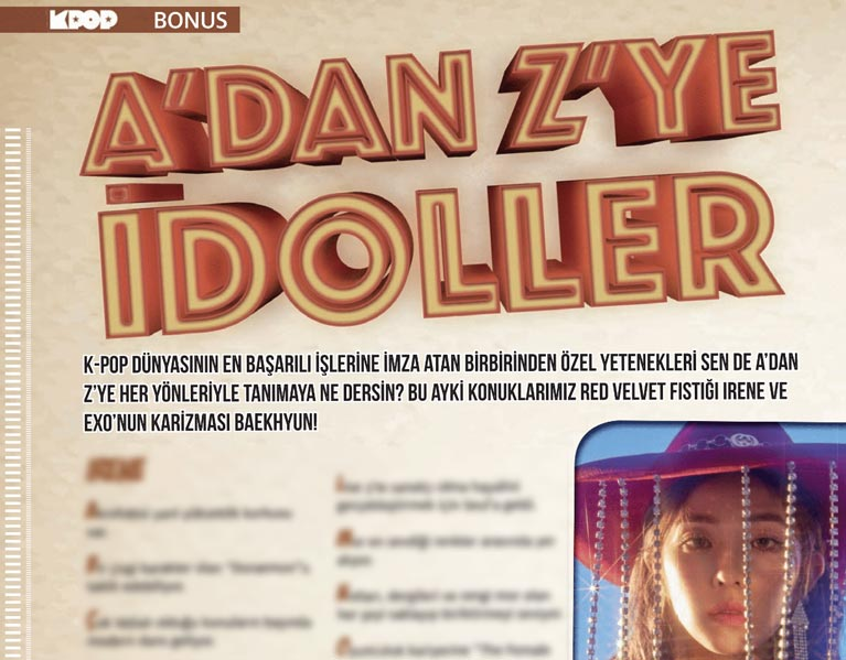 İdol Festivali Özel Sayısı dergi içeriği